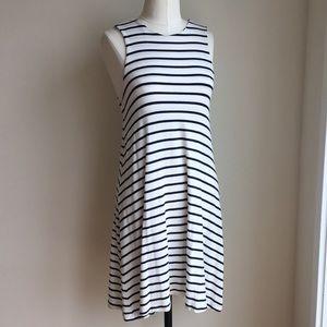 Amour Vert Crossback Blue & White Stripe Dress - S